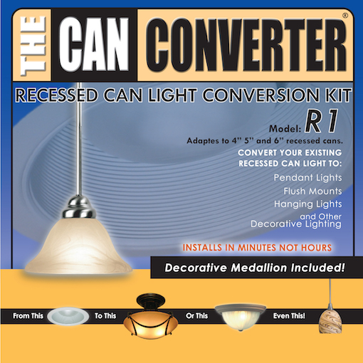 Recessed Can Pendant Light Conversion Kit The Converter